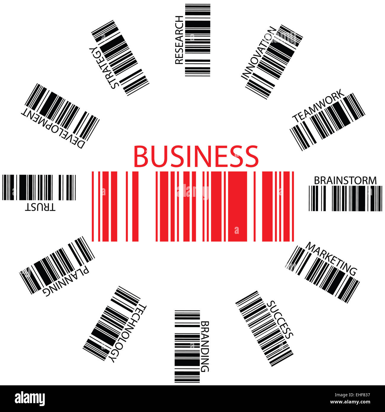 business bar codes - Stock Image