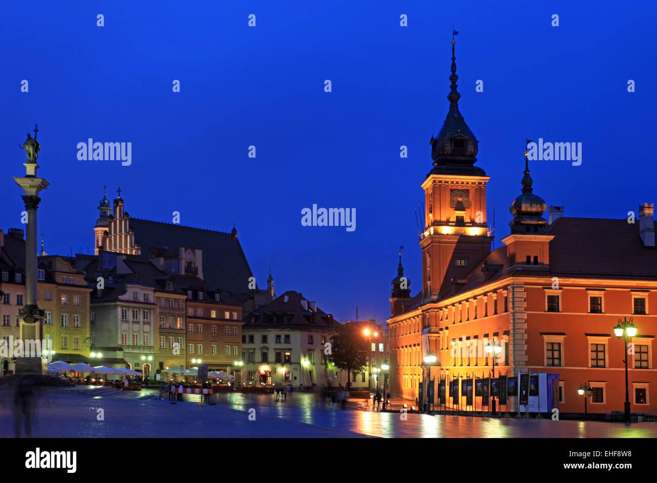 WARSAW - CASTLE Stock Photo