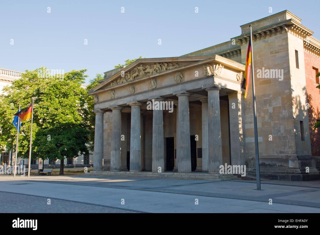 Memorial Neue Wache in Berlin Stock Photo