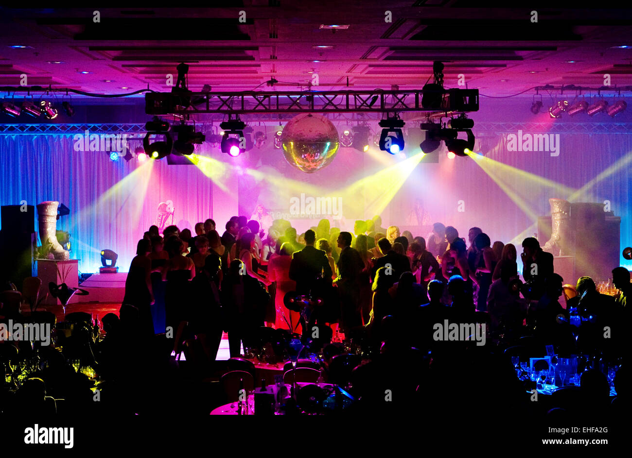 Christmas party at the Hilton Metropole London. - Stock Image