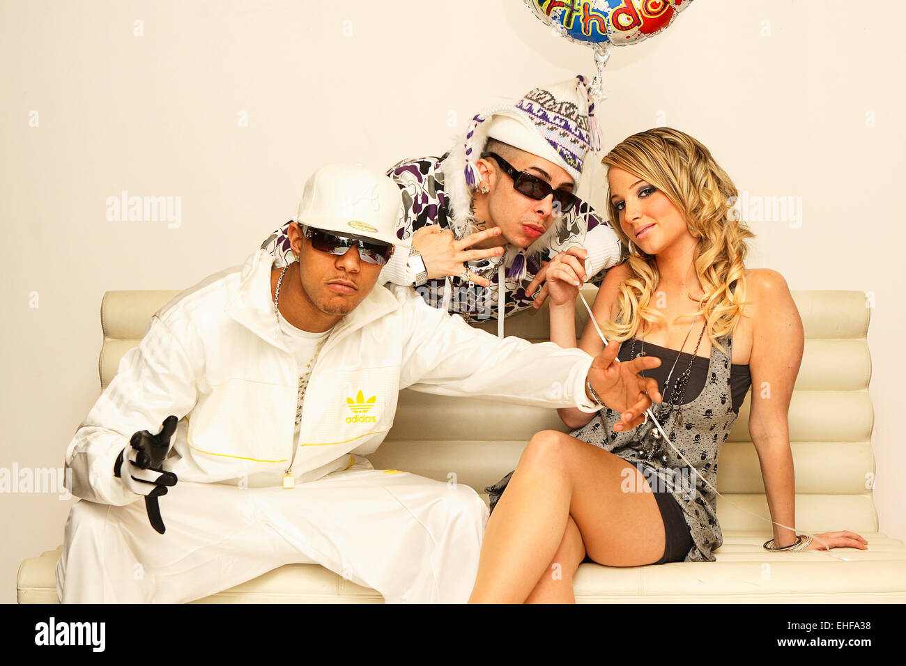 N-Dubz photographed at the MTV studios in Camden London 2008. - Stock Image