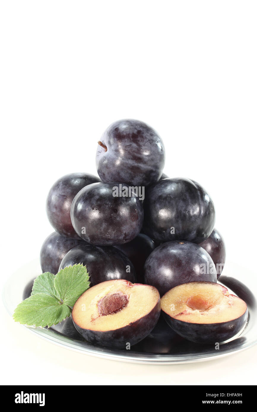 plums - Stock Image