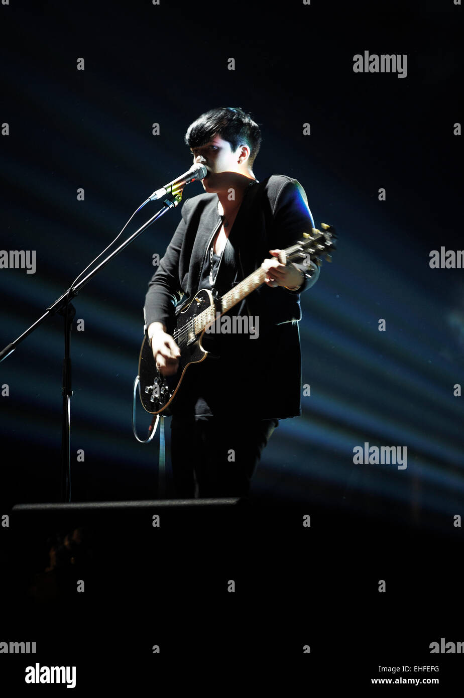 The XX at Bestival on the Isle of Wight Friday 10th September 2010. - Stock Image