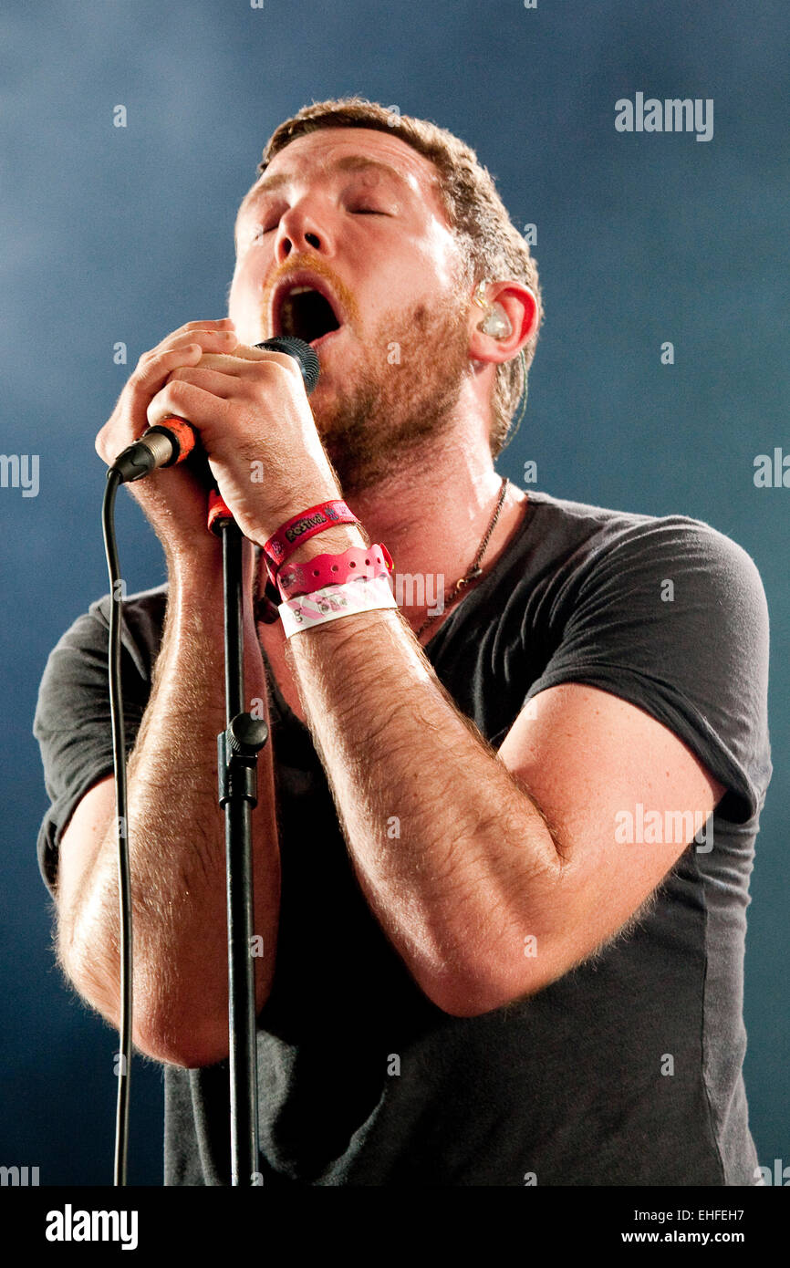 Fenech-Soler live at Bestival on the Isle Of Wight 2011. Stock Photo