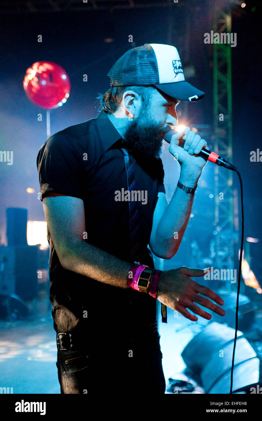 Dan Le Sac Vs Scroobius Pip live at Bestival on the Isle Of Wight 2011. Stock Photo