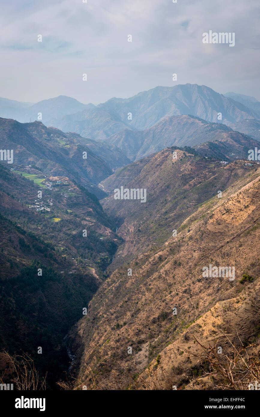 Himalayan foothills near Shimla, Himachal Pradesh, India - Stock Image