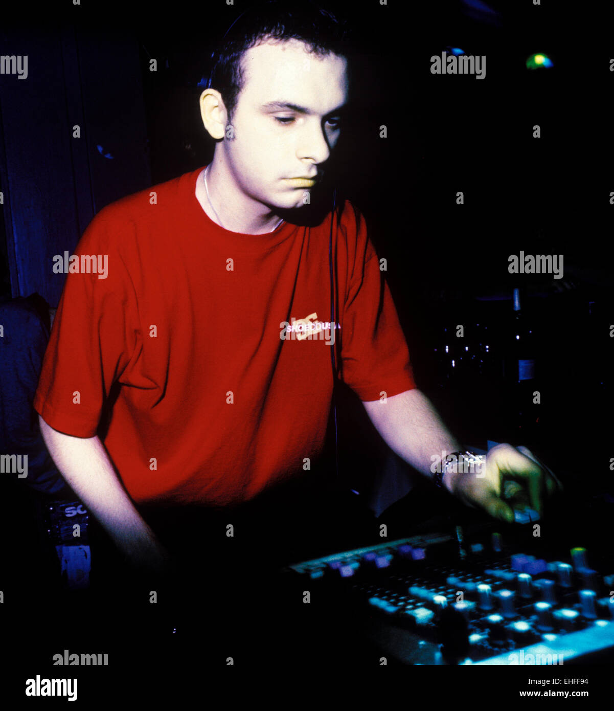 Andy C DJing at Ram Trilogy at The End London. - Stock Image
