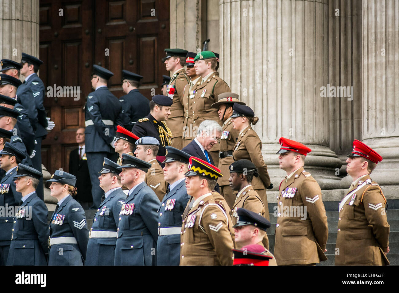 London, UK. 13th March, 2015. Michael Fallon MP attends the Afghanistan Commemoration at St. Paul's Cathedral Credit: - Stock Image