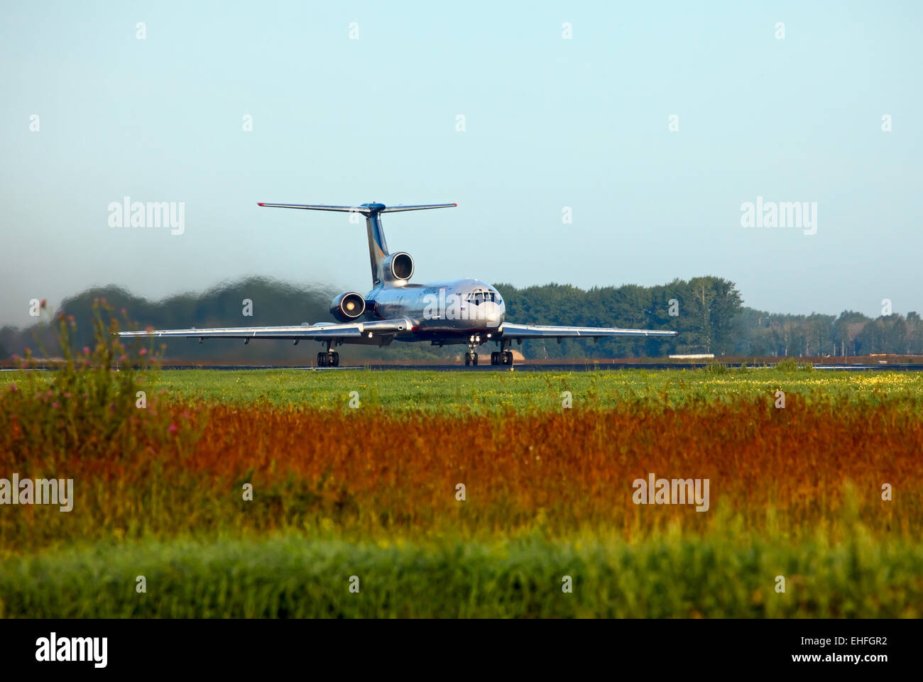 Before takeoff. - Stock Image