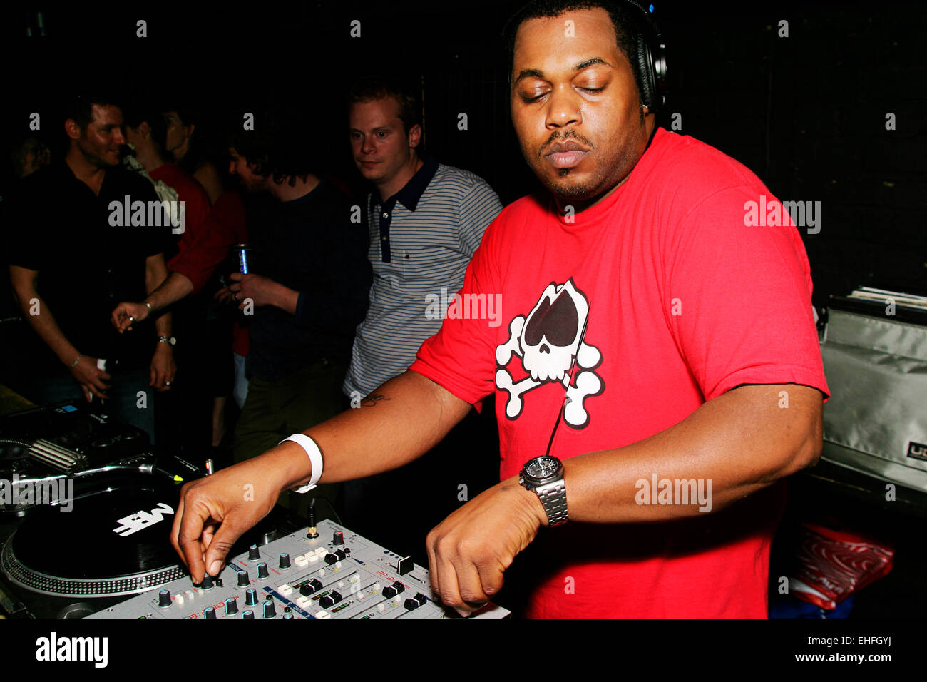 Derrick Carter DJing in The Key at the TDK Cross Central Festival London. - Stock Image