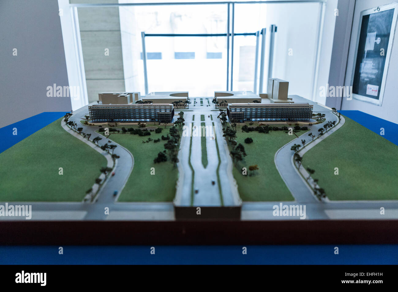 Architect's model of the E42 EUR area in Rome Stock Photo