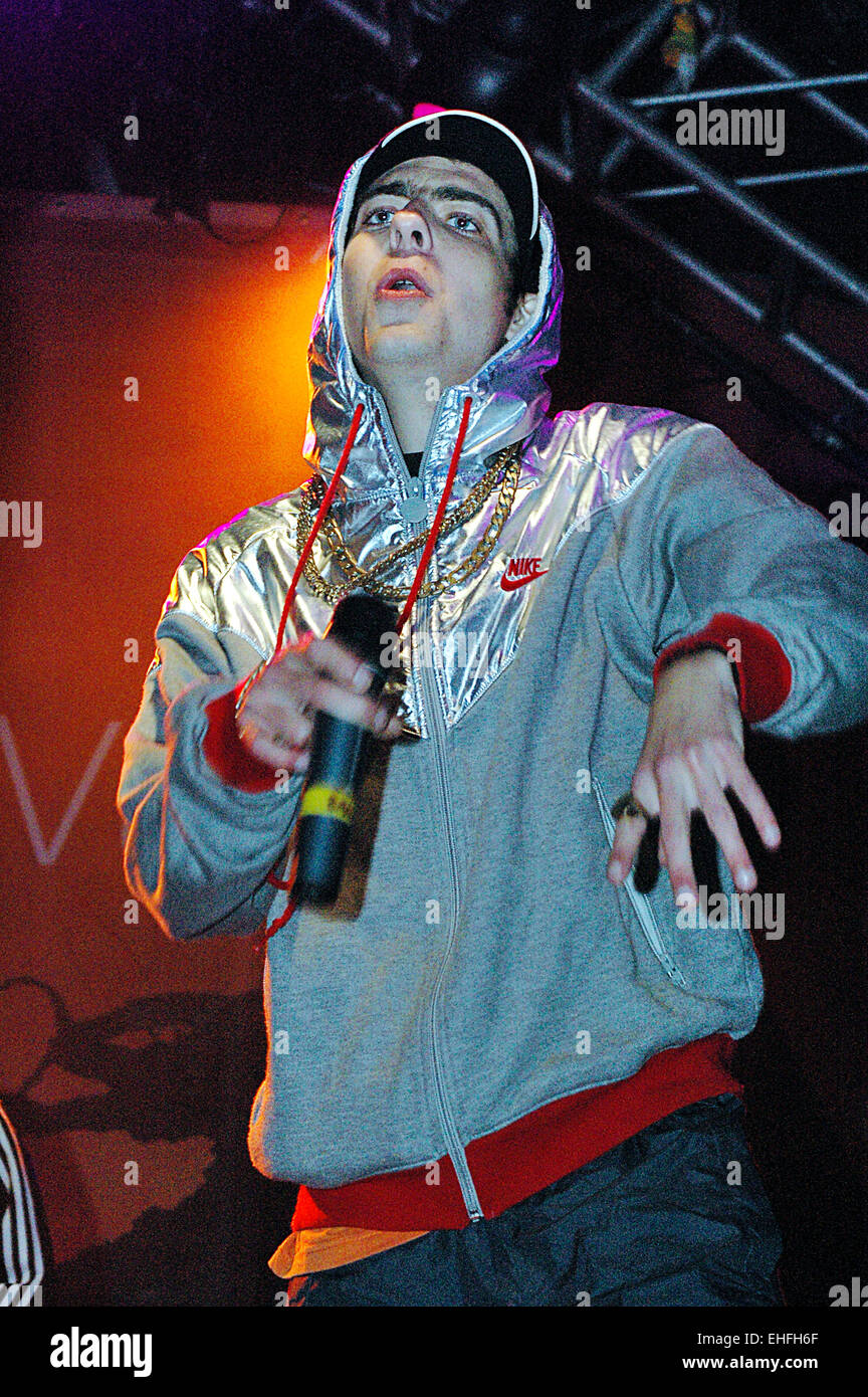 Goldie Looking Chain live on stage at the Orange Ashton Court Festival Bristol. - Stock Image