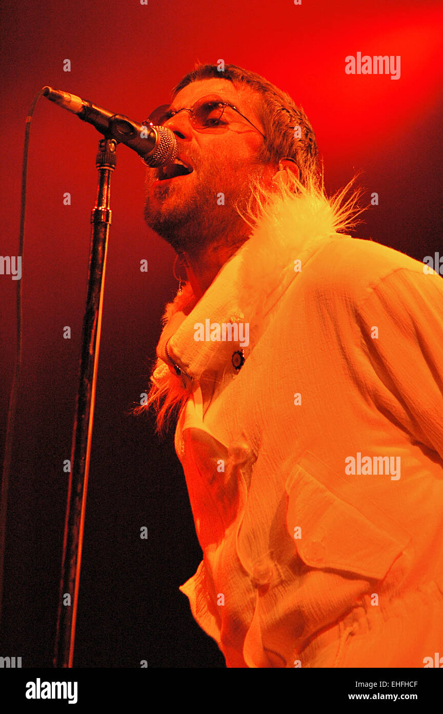 Liam Gallagher from Oasis. - Stock Image