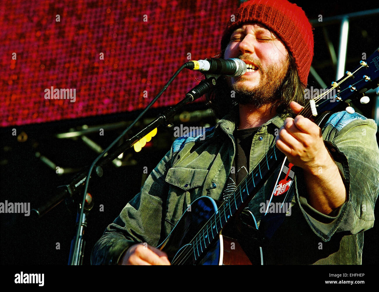 Badly Drawn Boy live. - Stock Image