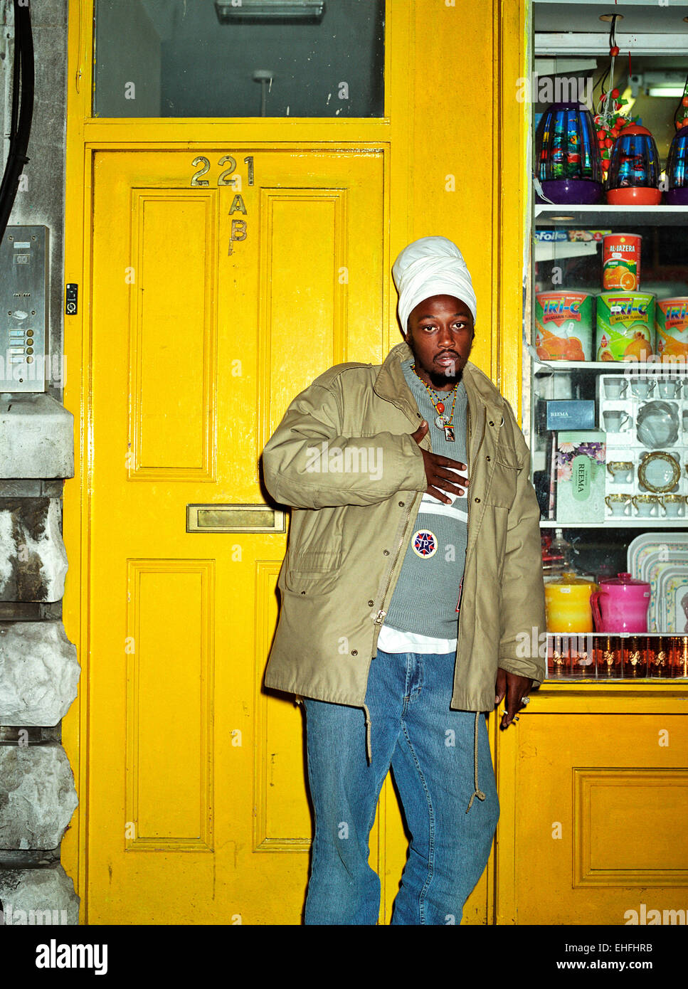 Portrait of Ras Shiloh from The Fifth Element in Streatham London. - Stock Image