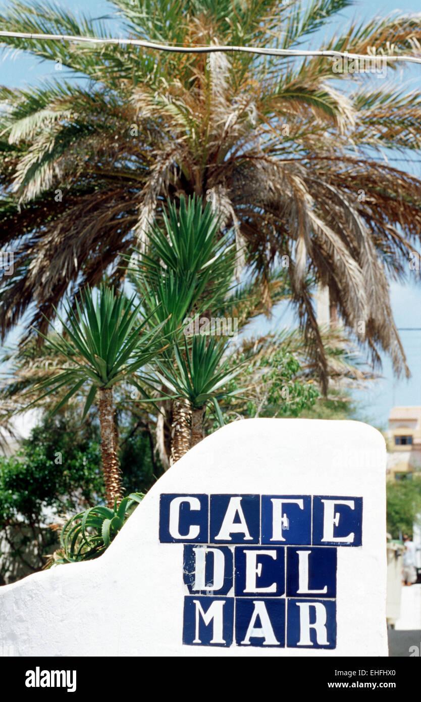 Cafe Del Mar Ibiza. - Stock Image