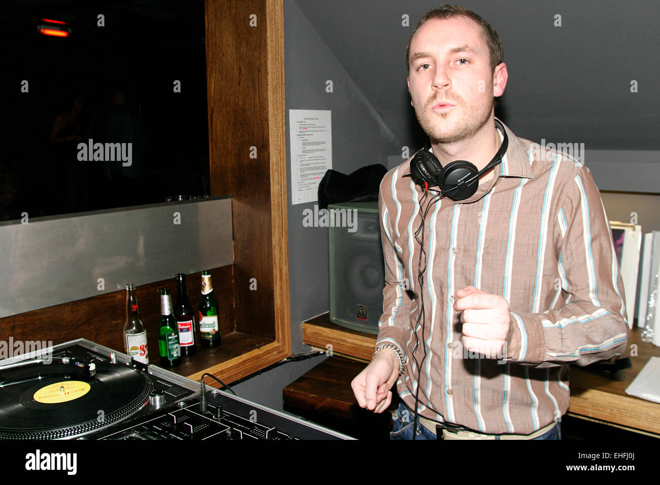 DJ at Human Zoo at Industry in Shoreditch - Stock Image