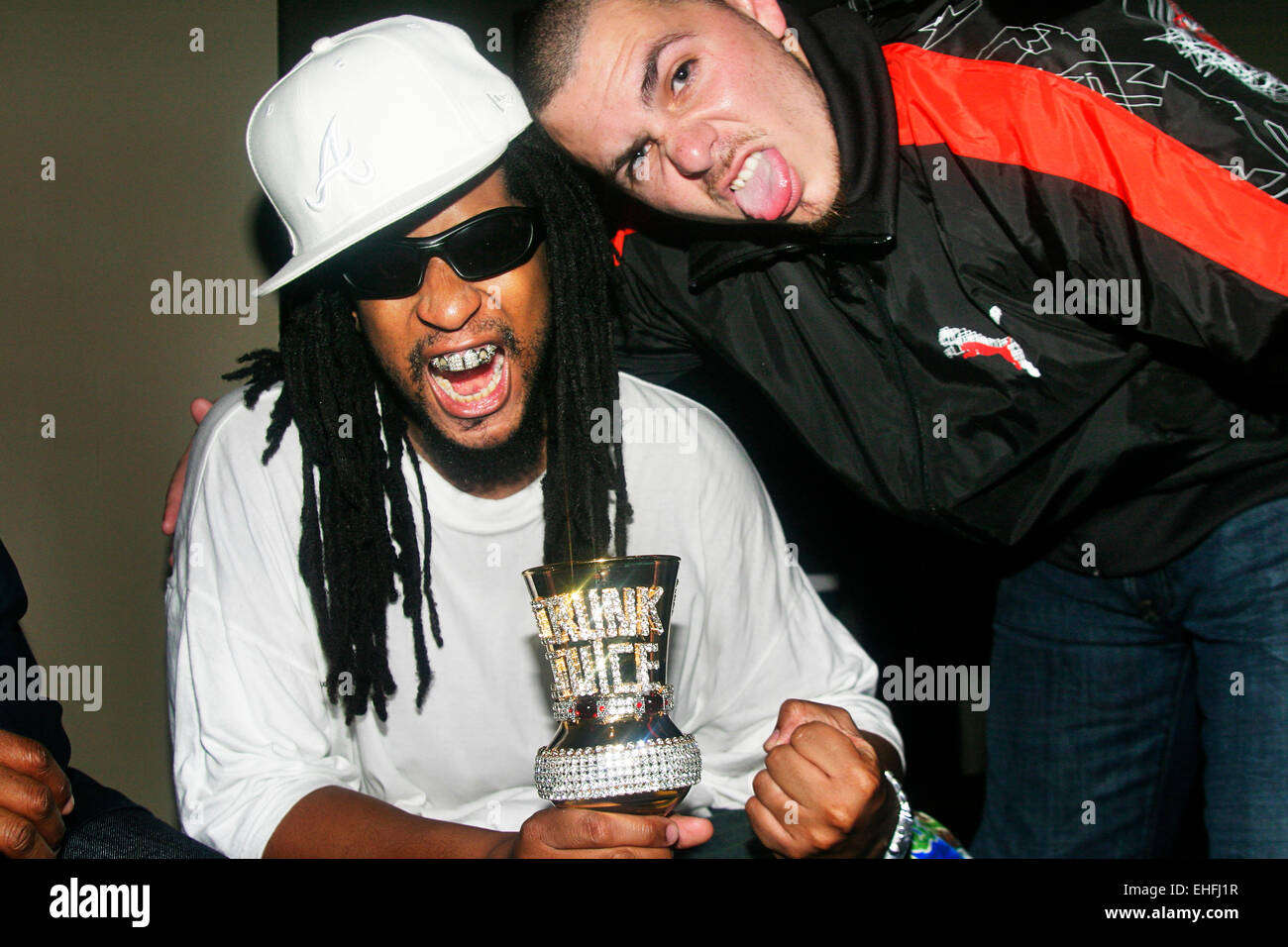 Lil Jon and the Pitbull backstage at Crunk Juice at The Carling Academy Islington. - Stock Image