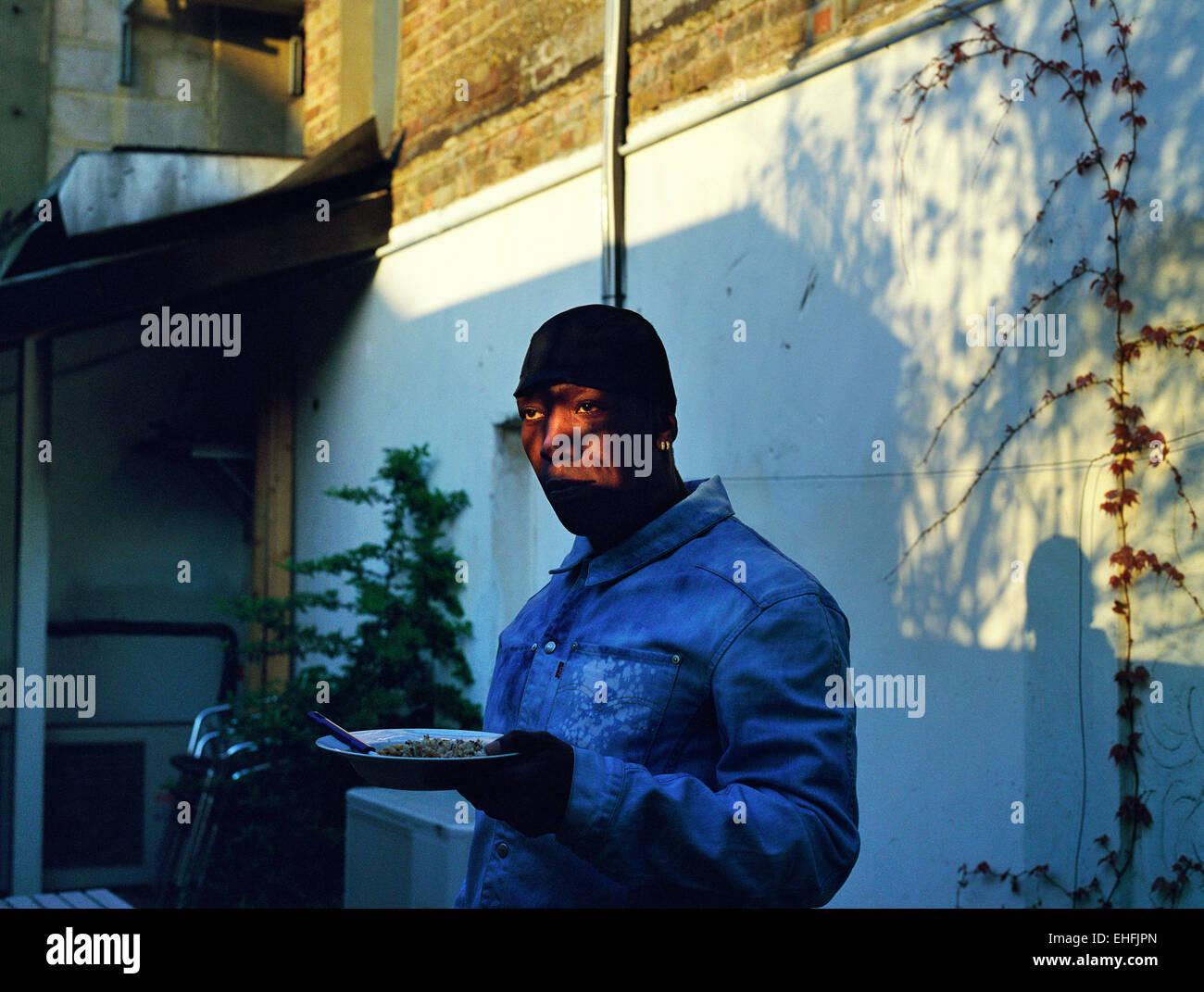 Portrait of Rubi Dan in Tooting South London. - Stock Image