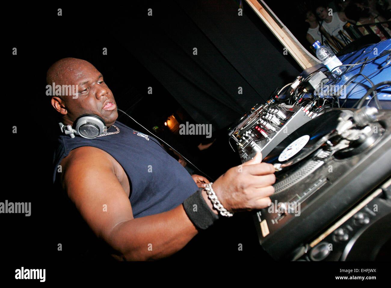 Carl Cox DJing at Heaven London. - Stock Image