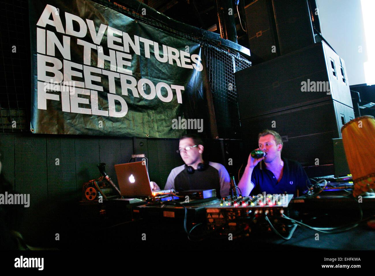 Warp DJs at Adventures in the Beetroot Field at Kokos in Camden. - Stock Image
