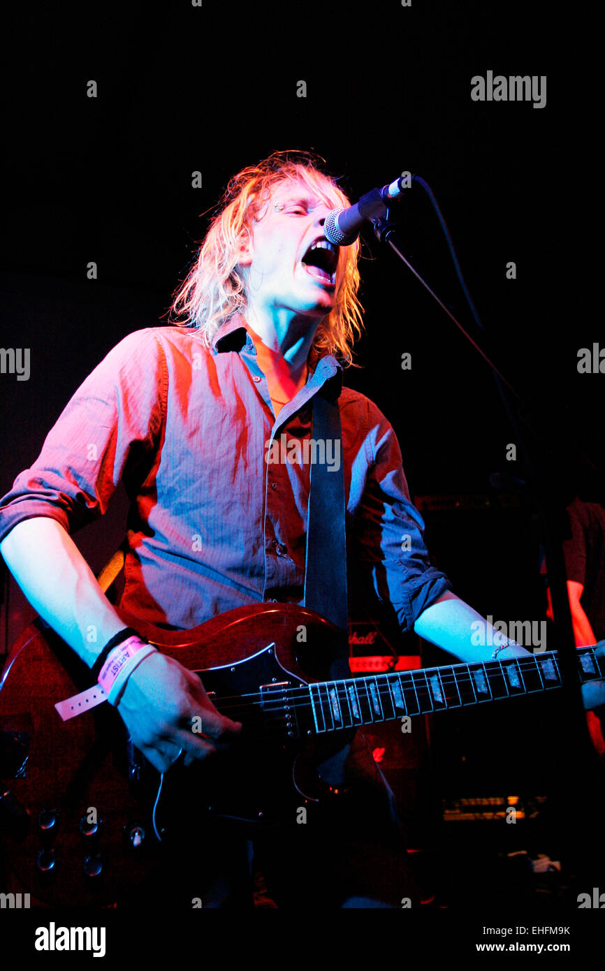 Amusement Parks on Fire live at the TDK Cross Central festival at Kings Cross Goods Yard London. Stock Photo