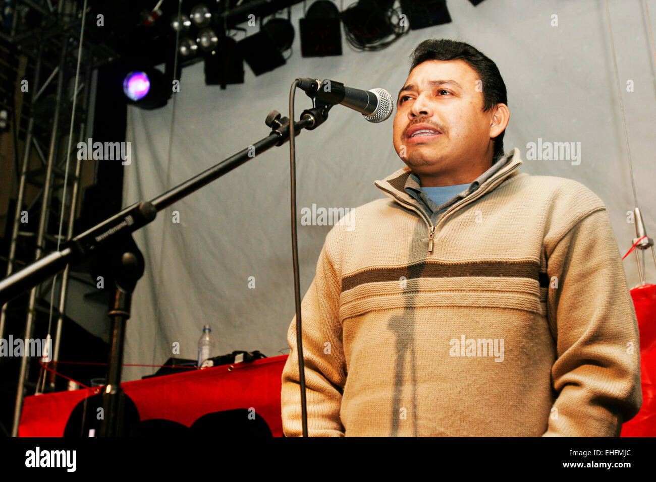 Speaker at the Latin Hip Hop and Reggaeton Festival at The Carling Academy Islington London. - Stock Image