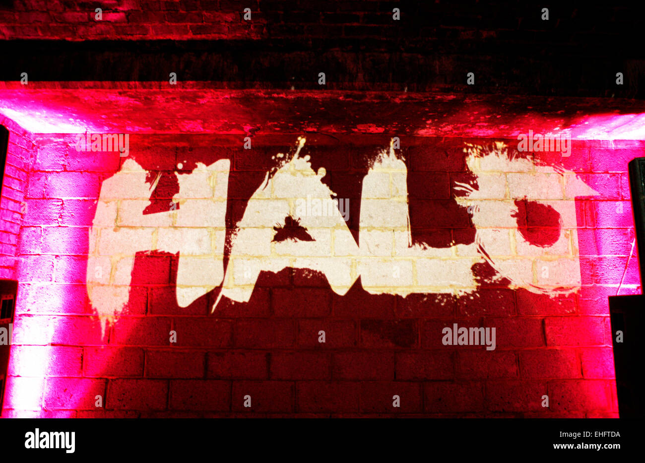 Halo at TDK Cross Central Festival 2007 at Canvas in Kings Cross in London. - Stock Image