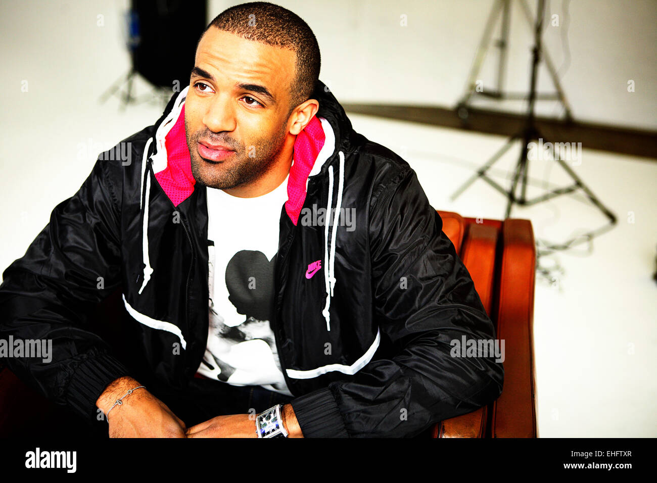 Portrait of Craig David at Spring Studios London. - Stock Image