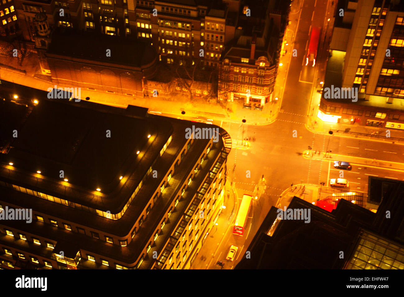 View from Vertigo the bar at the top of Tower 42 in the city of London. - Stock Image