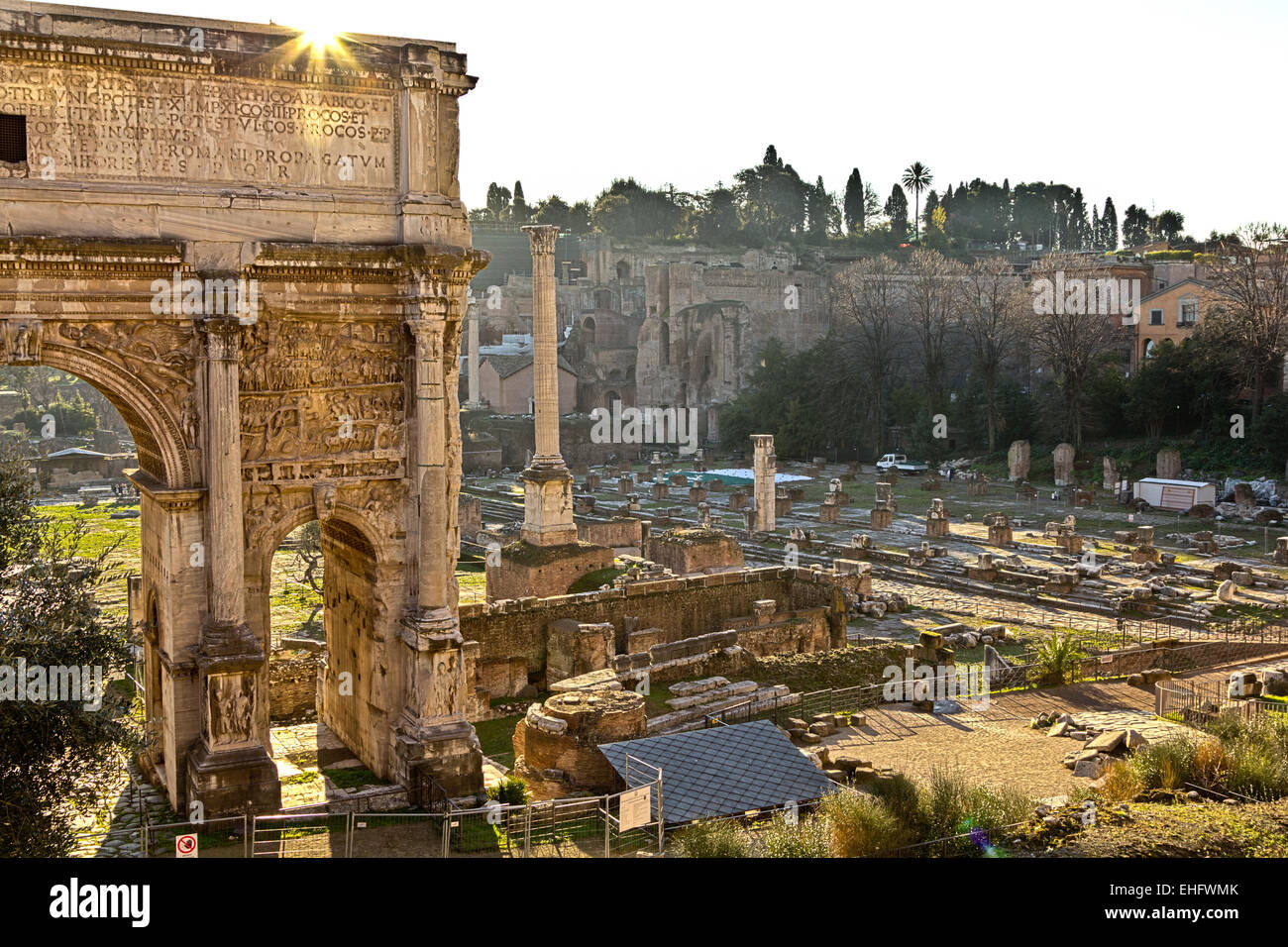 Ancient Rome Ruins - Stock Image