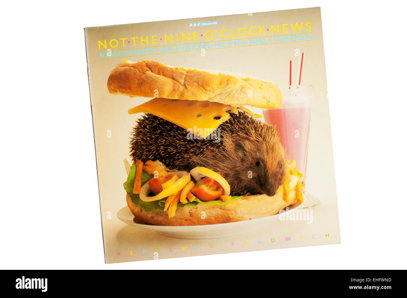 Hedgehog Sandwich was a 1981 collection of comedy sketches from the BBC TV show Not The Nine O'Clock News. - Stock Image