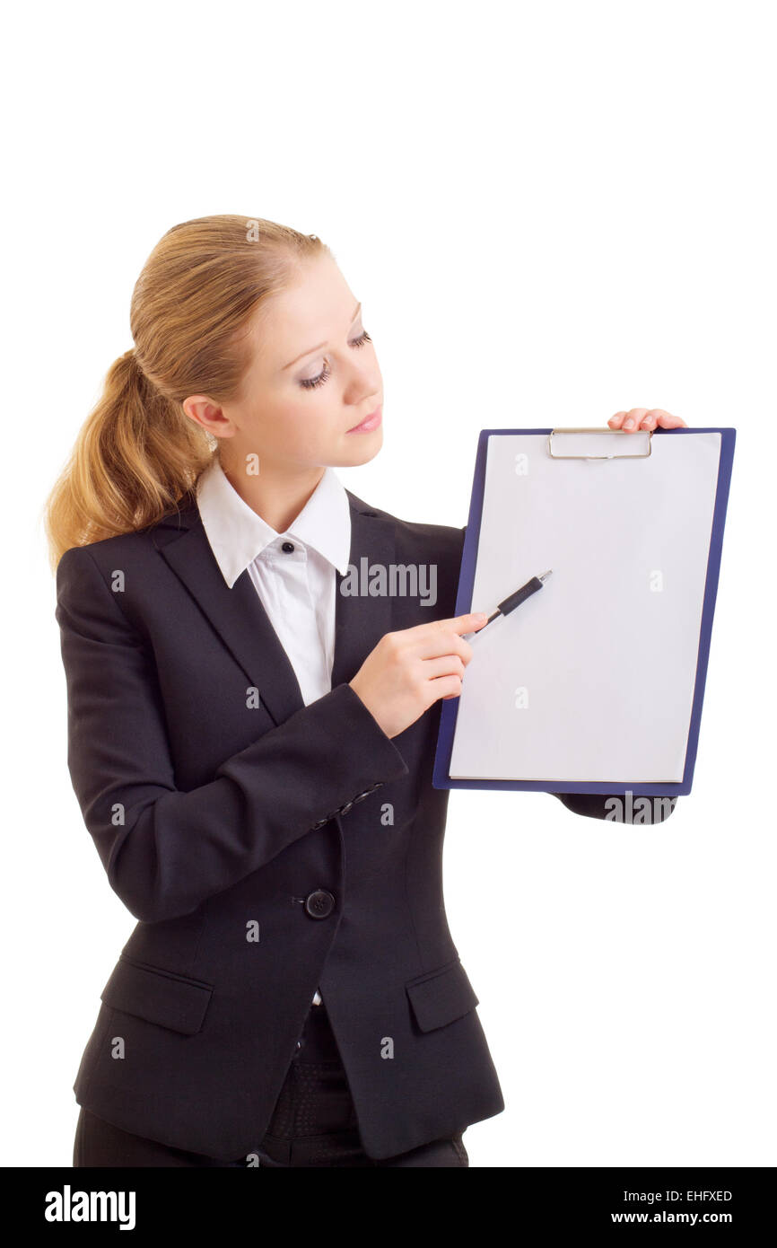 business woman with a represent folder - Stock Image