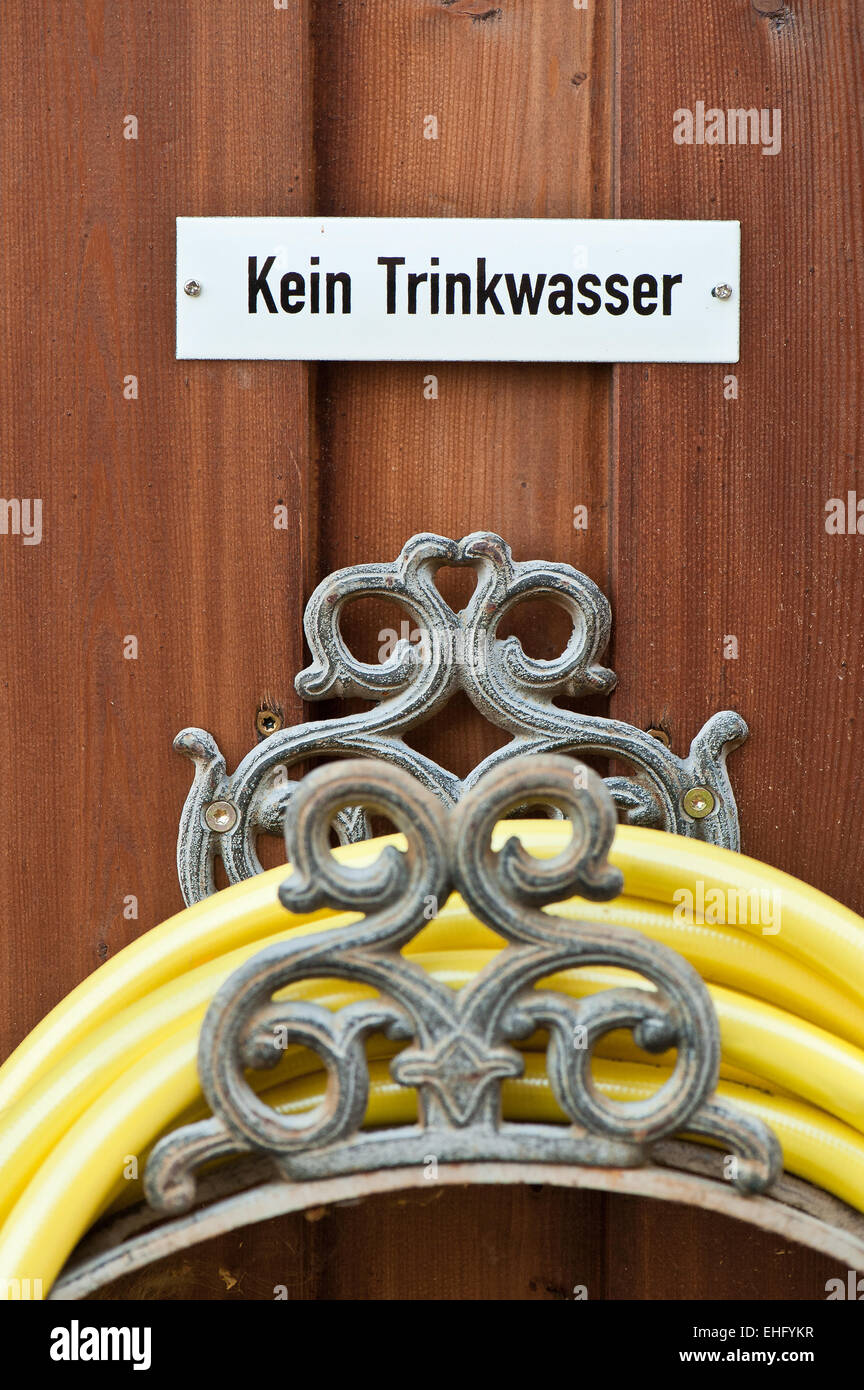 Kein Trinkwasser Stock Photo
