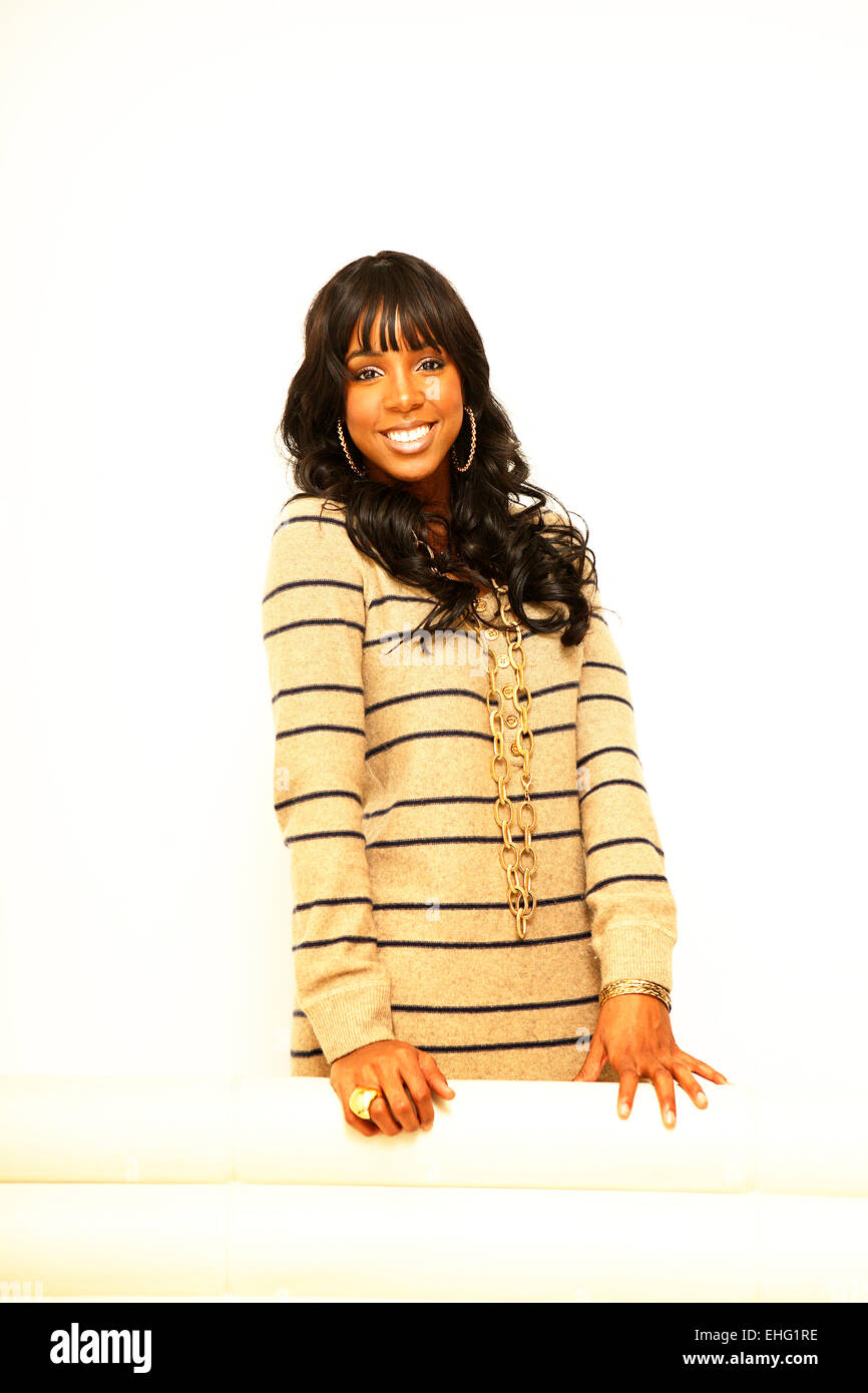 Portrait of the singer Kelly Rowland. - Stock Image