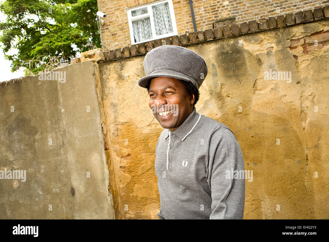 Portrait of Norman Jay in Notting Hill West London. - Stock Image