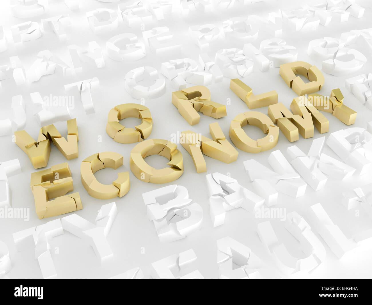 World economy crisis - Stock Image