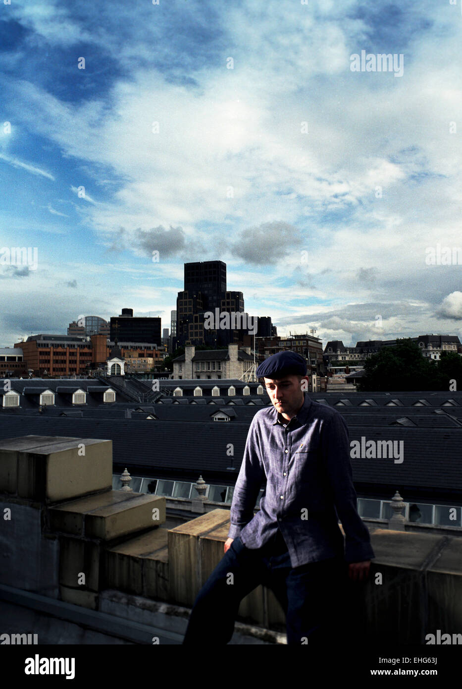 Portrait of Craig Richards on the roof of Fabric. - Stock Image