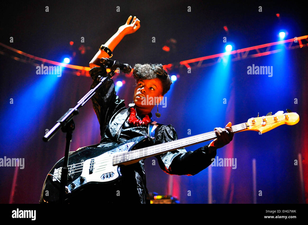 The Noisettes live at Brixton Academy London 27/05/09. Stock Photo