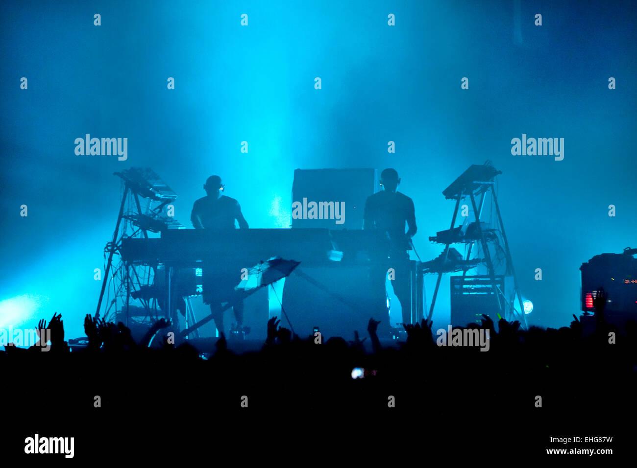 Orbital live at Rockness Festival at Dores near Inverness in Scotland June 2009. - Stock Image