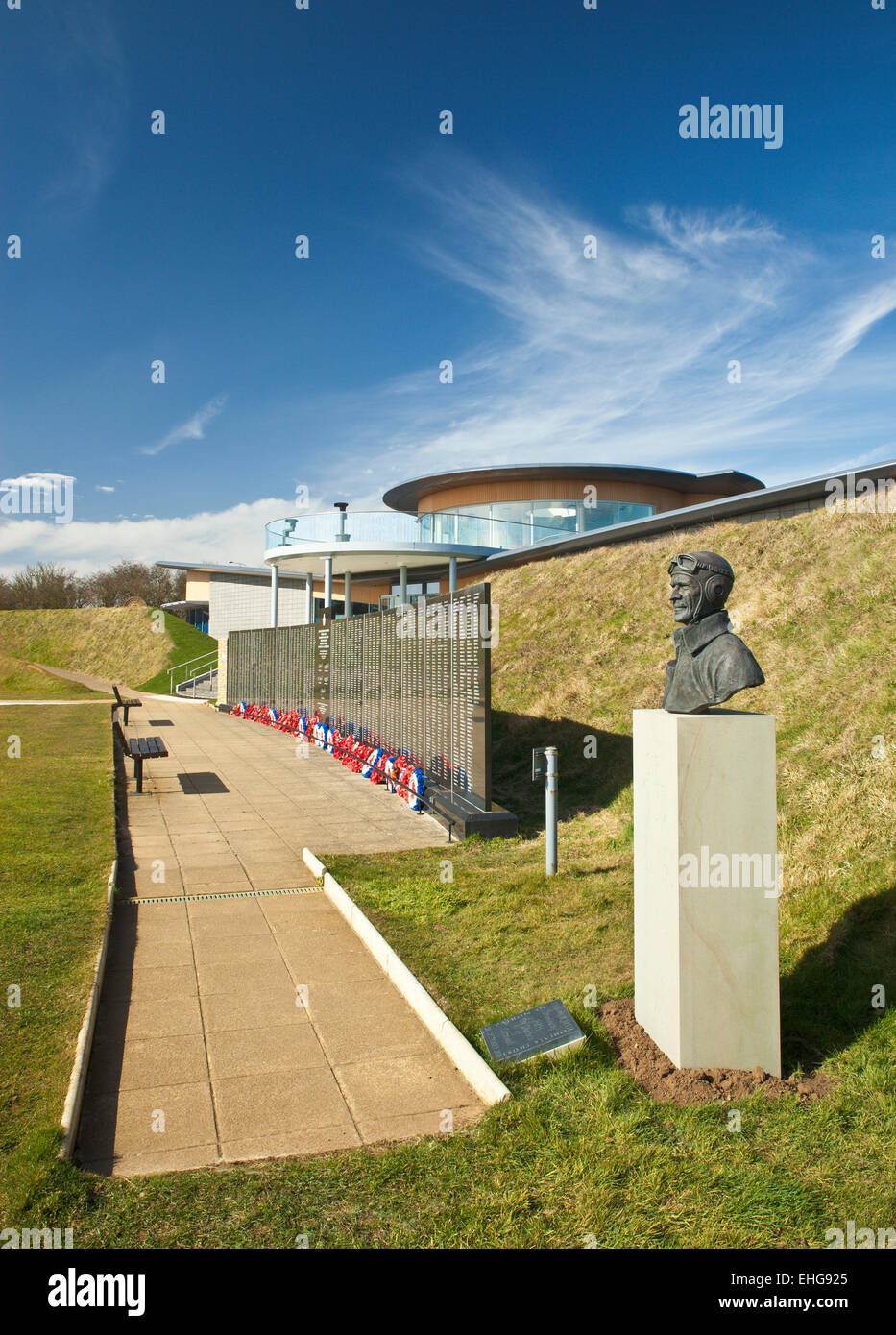 Battle of Britain National Memorial, and new visitor center The Wing. Capel-le-Ferne. - Stock Image