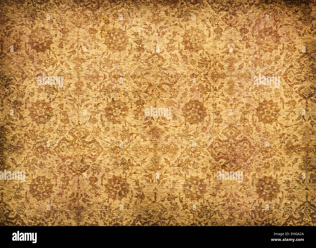 vintage wallpaper - perfect textured background - Stock Image