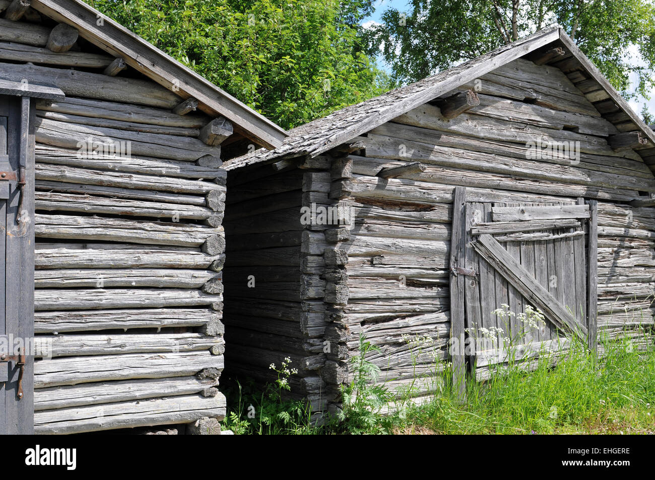 Holzhaus / Wooden house - Stock Image
