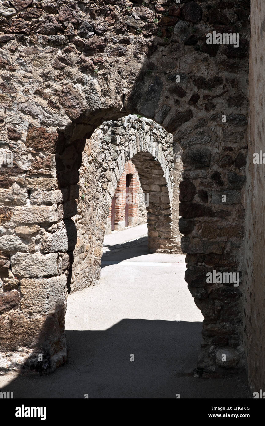 Arch in Fort Liberia - Stock Image