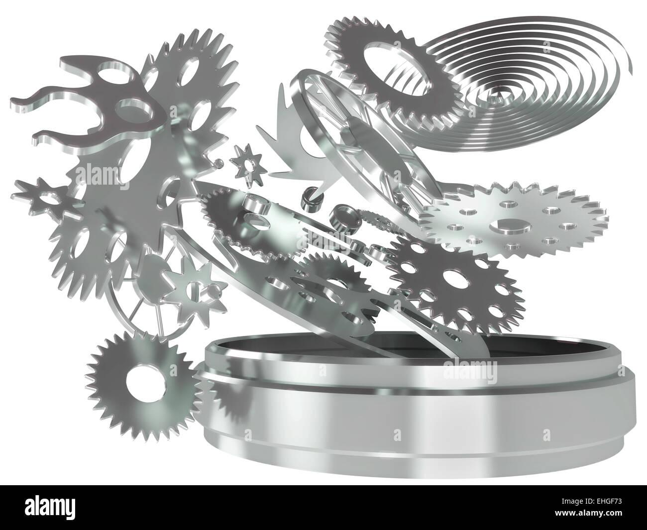mechanism chronometer - Stock Image