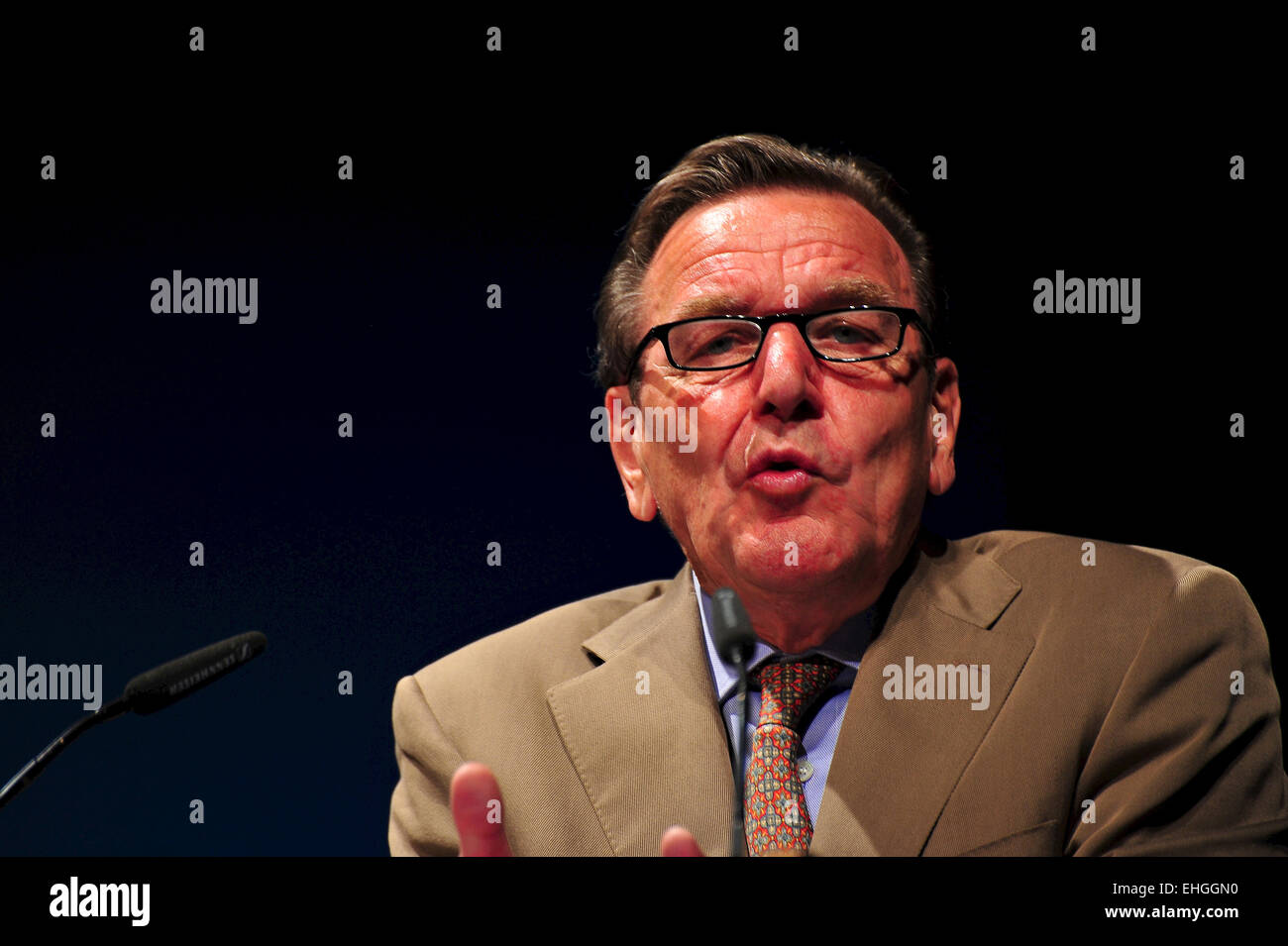 Ex-Bundeskanzler Gerhard Schröder - Stock Image