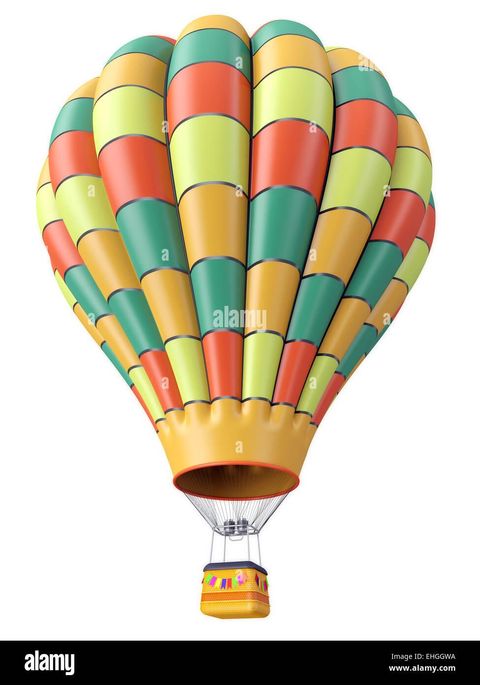 Multi-colored balloon - Stock Image