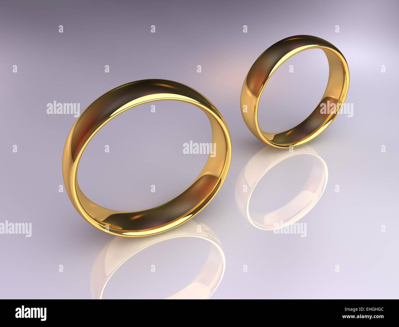 Wedding Rings Separately - Stock Image