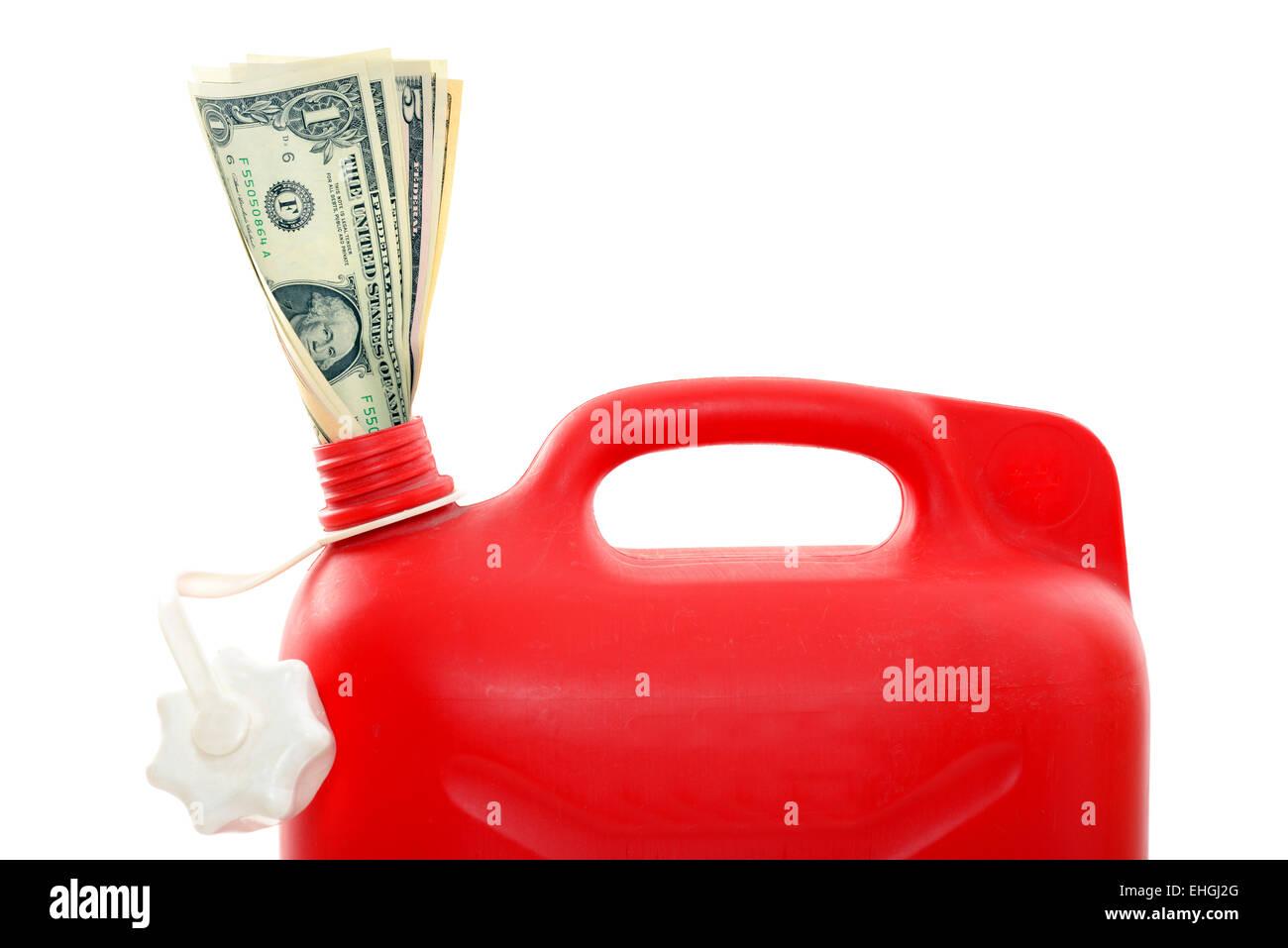 Teures Benzin / Expensive gasoline Stock Photo