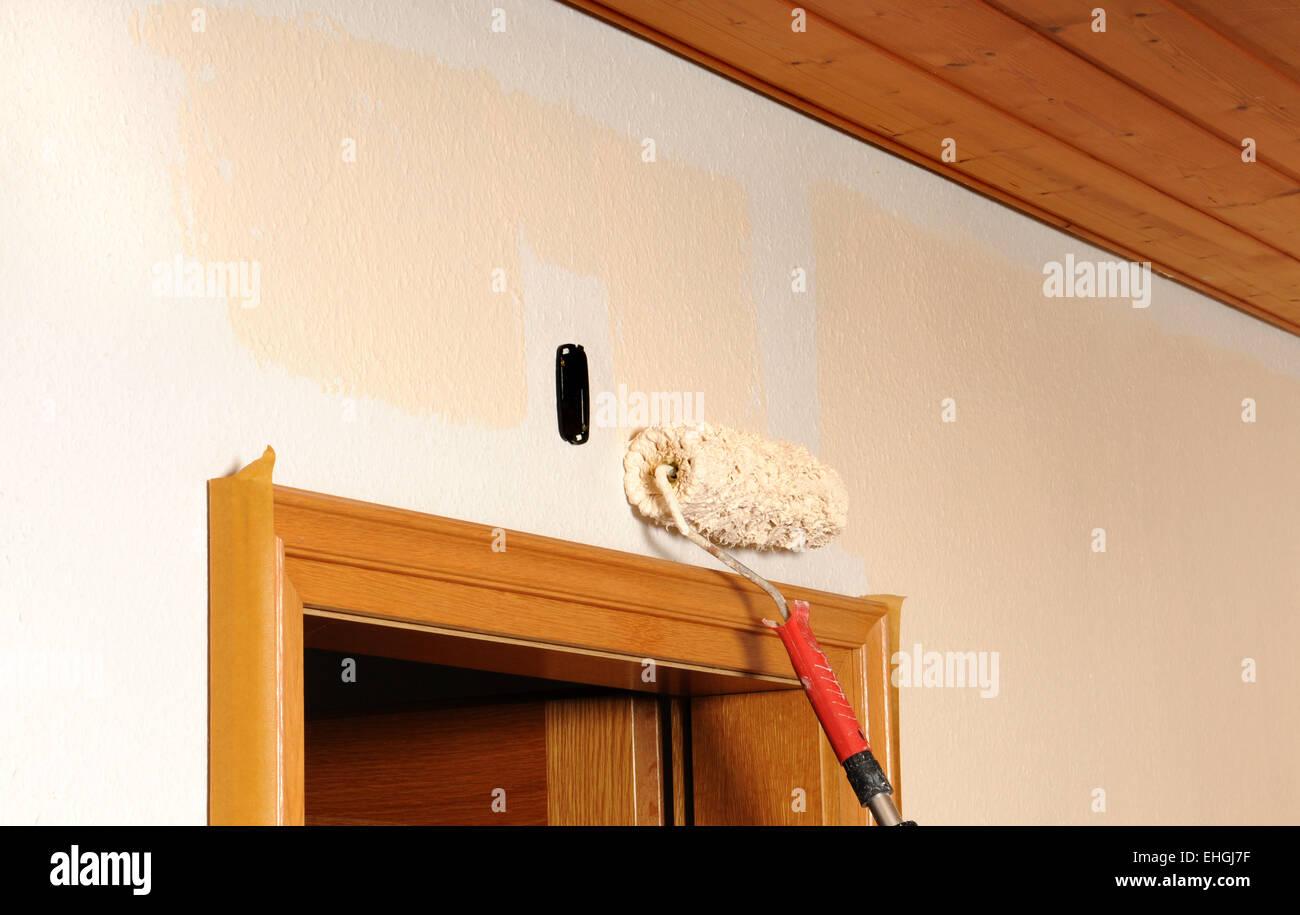 Malerarbeiten Painters Work Stock Photo 79656179 Alamy
